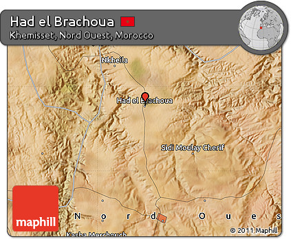 Free Satellite Map of Had El Brachoua