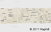 Shaded Relief Panoramic Map of Ouled Chaoui