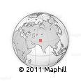 """Outline Map of the Area around 33° 32' 52"""" N, 70° 37' 30"""" E, rectangular outline"""