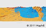 Political Panoramic Map of Rāwalpindi
