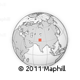 """Outline Map of the Area around 33° 32' 52"""" N, 74° 52' 30"""" E, rectangular outline"""