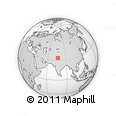 """Outline Map of the Area around 33° 32' 52"""" N, 76° 34' 29"""" E, rectangular outline"""