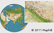 """Satellite Location Map of the area around 33°32'52""""N,77°25'30""""E"""