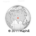 """Outline Map of the Area around 33° 32' 52"""" N, 77° 25' 30"""" E, rectangular outline"""