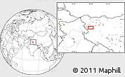 Blank Location Map of Wüjang