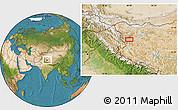 Satellite Location Map of Wüjang