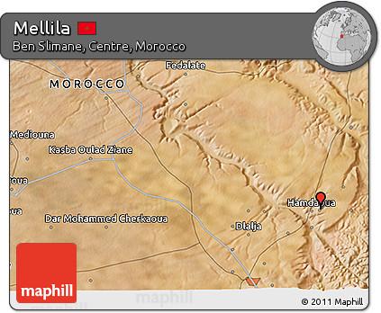 Satellite 3D Map of Mellila