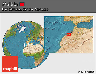 Satellite Location Map of Mellila