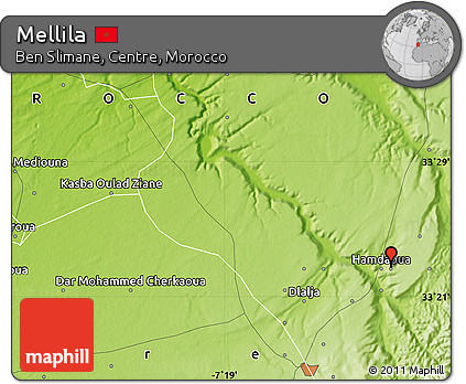 Physical Map of Mellila