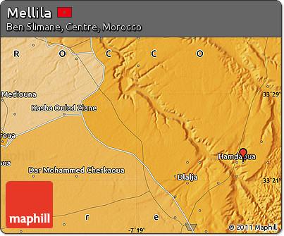 Political Map of Mellila