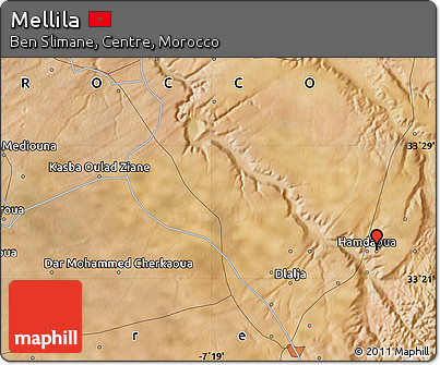 Satellite Map of Mellila