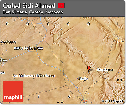 Satellite Map of Ouled Sidi Ahmed