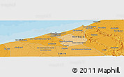 Political Panoramic Map of Sidi Ahmed el Rhandour