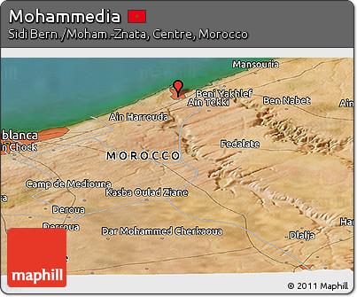Free Satellite Panoramic Map of Mohammedia