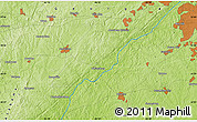 "Physical Map of the area around 33° 32' 52"" N, 84° 55' 30"" W"