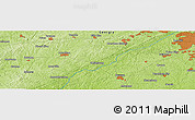 "Physical Panoramic Map of the area around 33° 32' 52"" N, 84° 55' 30"" W"