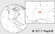 """Blank Location Map of the area around 33°32'52""""N,88°19'29""""W"""
