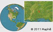 """Satellite Location Map of the area around 33°32'52""""N,88°19'29""""W"""