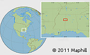 """Savanna Style Location Map of the area around 33°32'52""""N,88°19'29""""W"""