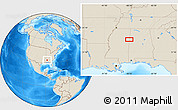 """Shaded Relief Location Map of the area around 33°32'52""""N,88°19'29""""W"""