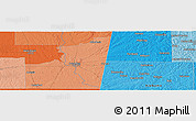 """Political Panoramic Map of the area around 33°32'52""""N,88°19'29""""W"""
