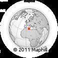 Outline Map of Kebili, rectangular outline