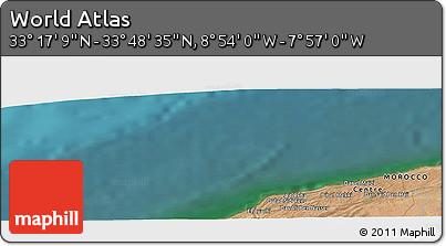 "Satellite Panoramic Map of the Area around 33°32'52""N,8°25'30""W"