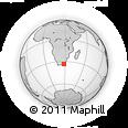 Outline Map of East London, rectangular outline