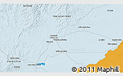 Political 3D Map of Treinta y Tres