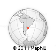 Outline Map of Los Camejos, rectangular outline