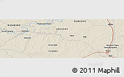 Shaded Relief Panoramic Map of Durazno