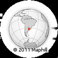Outline Map of Mercedes, rectangular outline