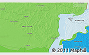 Political 3D Map of Fray Bentos