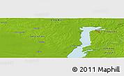 Physical Panoramic Map of Fray Bentos