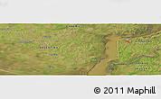 Satellite Panoramic Map of Fray Bentos