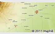 Physical 3D Map of Río Cuarto