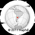 Outline Map of Río Cuarto, rectangular outline