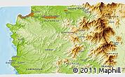 Physical 3D Map of Viña del Mar