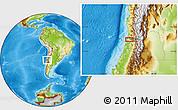 Physical Location Map of Viña del Mar