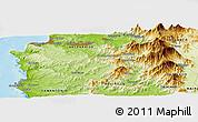 Physical Panoramic Map of Viña del Mar
