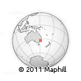 Outline Map of Sydney, rectangular outline