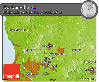 Free Physical Map of Durbanville