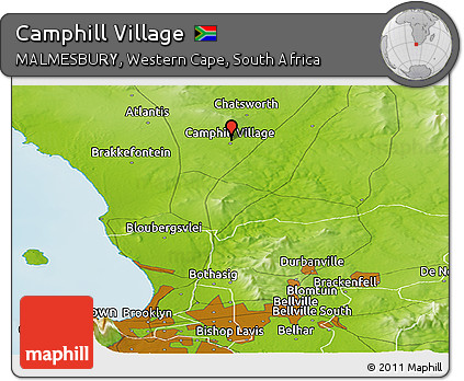 Free Physical Panoramic Map of Camphill Village on