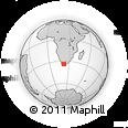 Outline Map of Blanco, rectangular outline