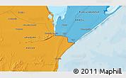 Political 3D Map of El Ceibo