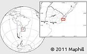 Blank Location Map of El Ceibo
