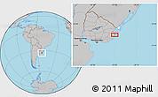 Gray Location Map of El Ceibo