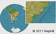 Satellite Location Map of El Ceibo