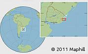 Savanna Style Location Map of El Ceibo