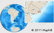 Shaded Relief Location Map of El Ceibo